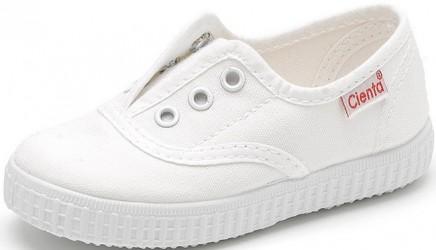 Białe tenisówki wkładane na gumkę Cienta 55-000-05