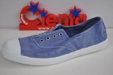Buty przecierane na gumkę bez sznurówek z gumowym czubkiem Cienta 70777-90